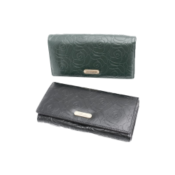 Buxton Rose Embossed Clutch...